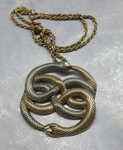 Neverending Story Auryn Pendant Metal Brass Cast Necklace Atreyu Bastion Falkor Falcor Do As You Wish Pendant 13