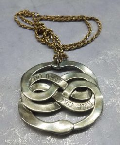 Neverending Story Auryn Pendant Metal Brass Cast Necklace Atreyu Bastion Falkor Falcor Do As You Wish Pendant 14