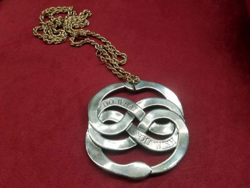 Neverending Story Auryn Pendant Metal Brass Cast Necklace Atreyu Bastion Falkor Falcor Do As You Wish Pendant 2