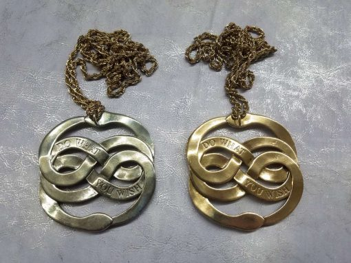 Neverending Story Auryn Pendant Metal Brass Cast Necklace Atreyu Bastion Falkor Falcor Do As You Wish Pendant 22