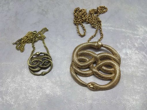 Neverending Story Auryn Pendant Metal Brass Cast Necklace Atreyu Bastion Falkor Falcor Do As You Wish Pendant 28