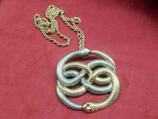 Neverending Story Auryn Pendant Metal Brass Cast Necklace Atreyu Bastion Falkor Falcor Do As You Wish Pendant 3