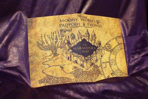 Marauder's Map Harry Potter Inspired Replica eReader / Kindle / iPad on secret s map harry potter, map in game of thrones, map harry potter books, fictional map harry potter,