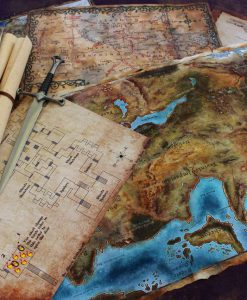 Geekify Custom Tabletop Cloth Map Printing RPG Service Canvas Gaming LARP Roleplaying Game Map Print Silk 1-1280