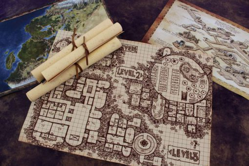 Geekify Custom Tabletop Cloth Map Printing RPG Service Canvas Gaming LARP Roleplaying Game Map Print Silk 16-1280