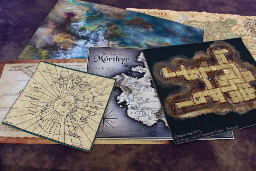 Geekify Custom Tabletop Cloth Map Printing RPG Service Canvas Gaming LARP Roleplaying Game Map Print Silk 48-1280