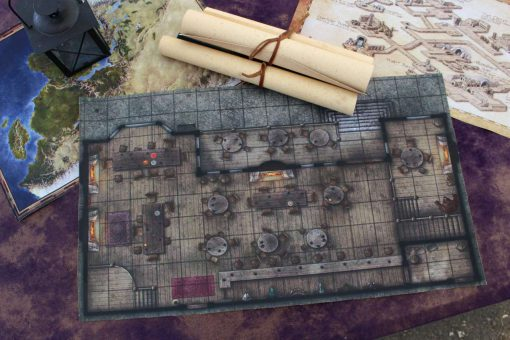 Geekify Custom Tabletop Cloth Map Printing RPG Service Canvas Gaming LARP Roleplaying Game Map Print Silk 7-1280