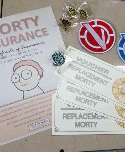 Rick and Morty Vindicators Patches Red Blue Iron On