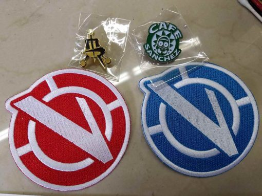 Rick and Morty Vindicators Patches Red Blue Iron On 2
