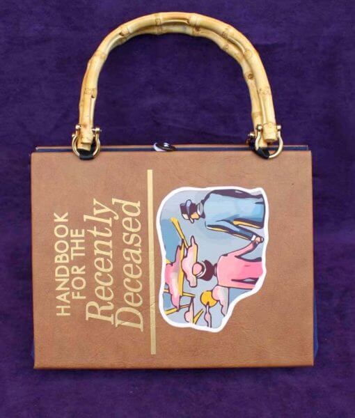 The Handbook for the Recently Deceased Hand Bag - Custom Book Replica / Clutch / Purse / Satchel (Inspired by Beetlejuice)