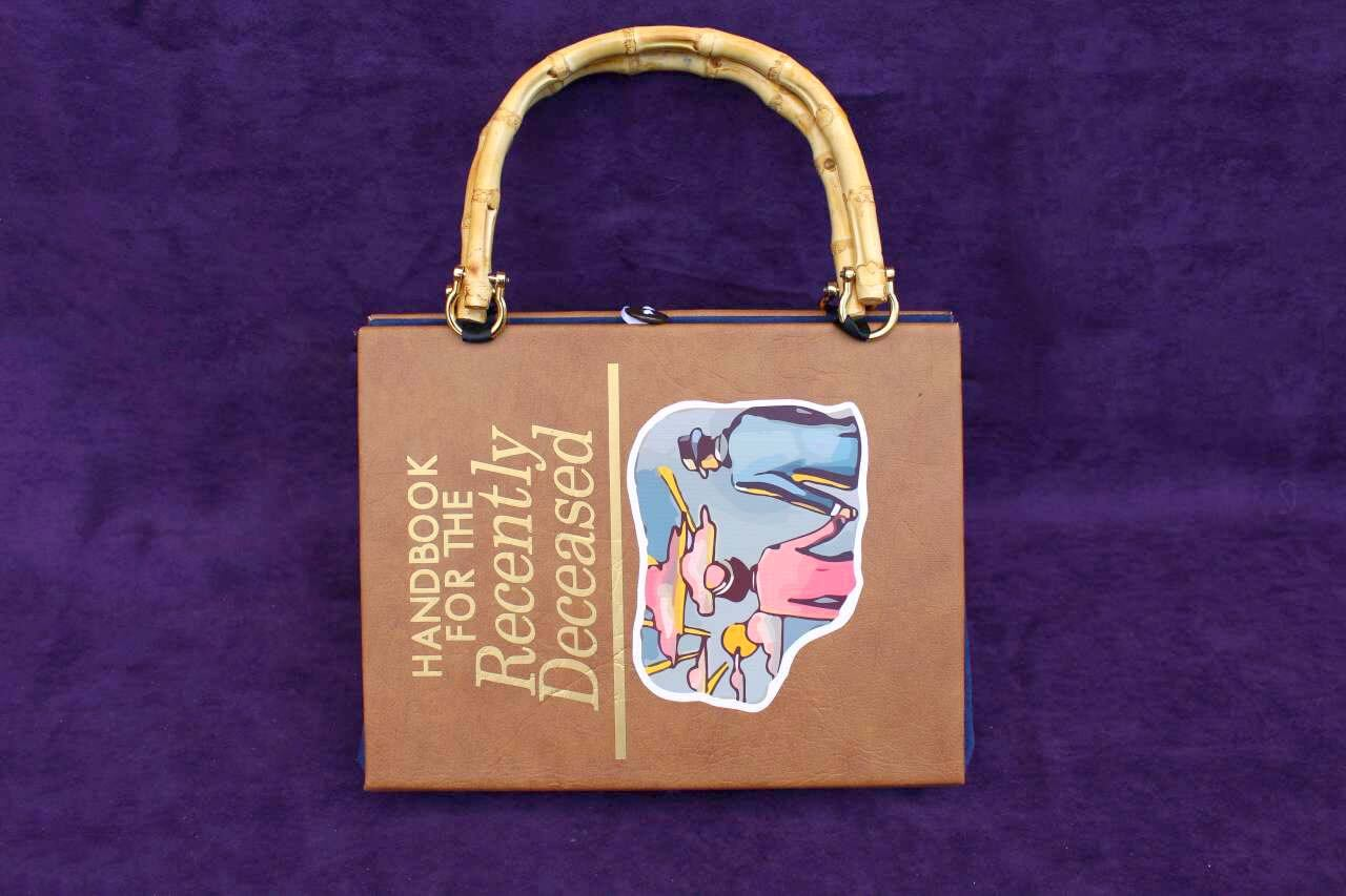 The Handbook For Recently Deceased Hand Bag Custom Book Replica Clutch Purse Satchel Inspired By Beetlejuice