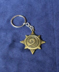 Blizzard WarCraft Hearthstone Emblem - Gold Keychain / Necklace / Pendant
