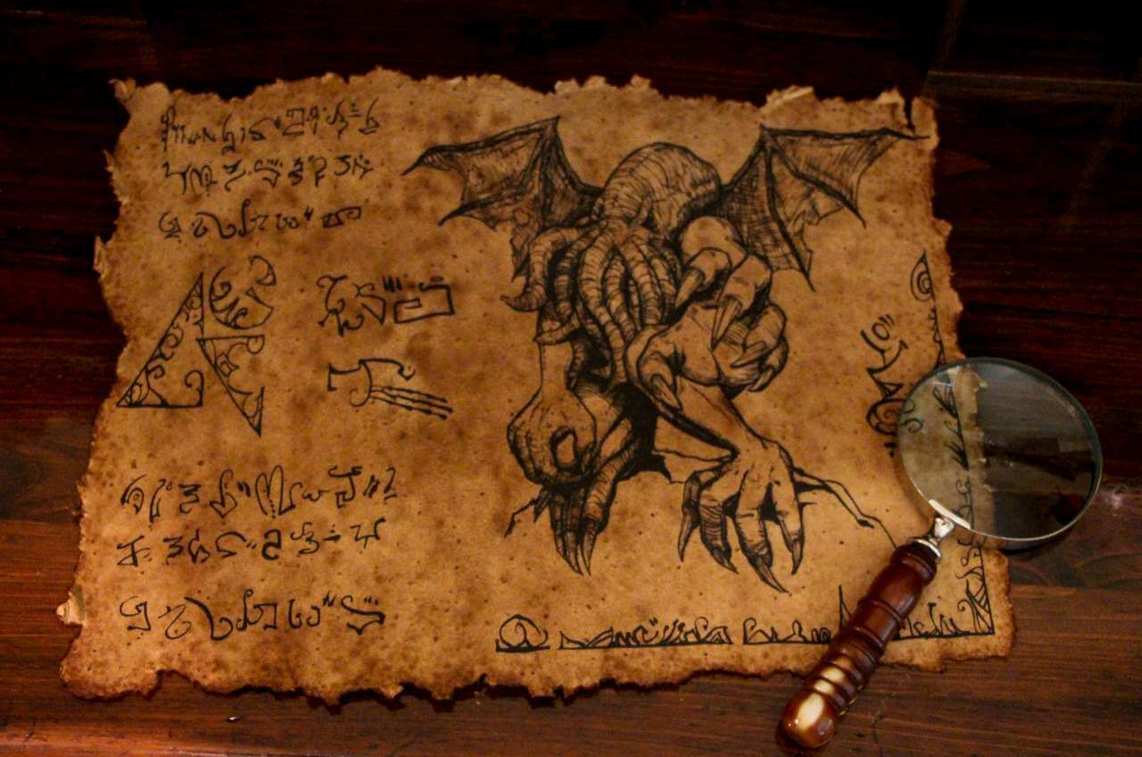 Ancient Cthulhu Scroll Lovecraft Geekify Inc