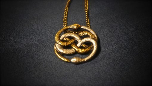 Neverending Story Two-Tone Auryn Pendant