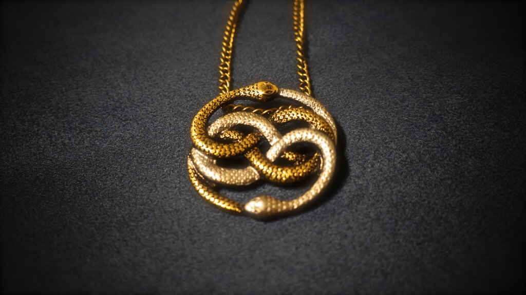 Neverending story two tone auryn pendant geekify inc neverending story two tone auryn pendant mozeypictures Choice Image