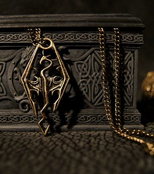 Dragonborn Skyrim Pendant of the Imperial Legion (Silver)