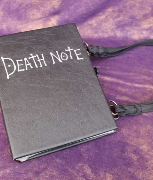 Deathnote Purse Death Note Anime Hand Bag - Custom Book Replica / Clutch / Purse / Satchel (Inspired by Deathnote)