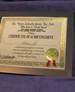 Derek Zoolander School Certificate of Achievingment