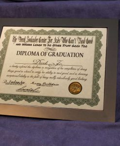 Derek Zoolander School Diploma of Graduation