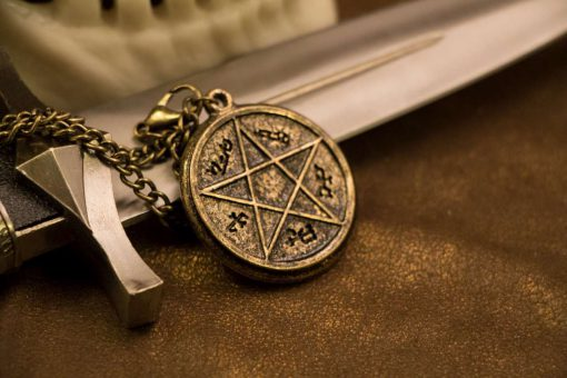 Devils Trap Gold Necklace / Pendant (Inspired by Supernatural Sam & Dean Winchester)