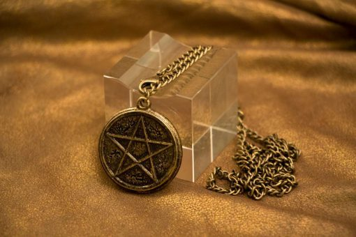 Devils Trap Gold Necklace / Pendant (Inspired by Supernatural - Sam & Dean Winchester)