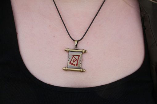Scroll of Town Portal Necklace / Pendant - Inspired by Dota 2