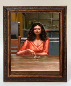 Firefly Serenity Crew Fan Art Poster Print - Inara & Wine Glass