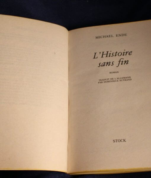 L'Histoire Sans Fin Livre relié en cuir - French Leatherbound Book Prop Replica (Inspired by The Neverending Story)