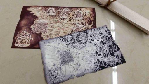 Custom Game Cloth Map RPG Printing Service