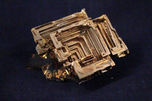 Gold Bismuth Crystals - Unique Rare Gold Colored Lab Grown Bismuth