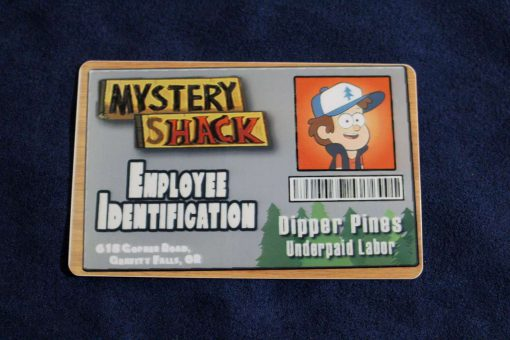 Gravity Falls Mystery Shack Employee ID Badge - Inspired by Gravity Falls