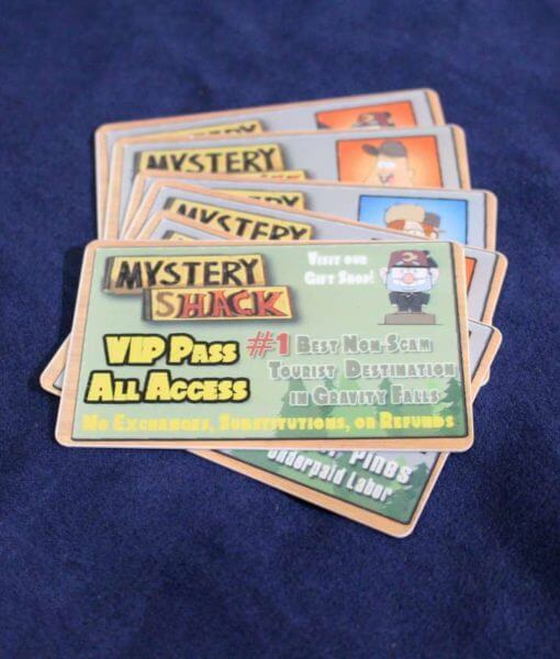 Gravity Falls Mystery Shack VIP Access Ticket - Inspired by Gravity Falls