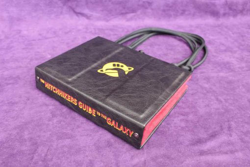 The Hitchhikers Guide to the Galaxy Book Hand Bag - Custom HHGTTG Book Replica / Clutch / Purse / Satchel