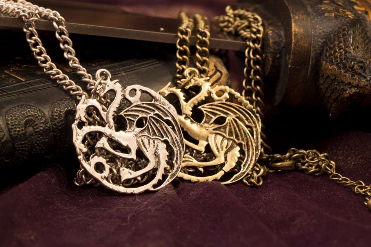 Game of thrones house targaryen antique gold dragon pendant necklace game of thrones house targaryen antique gold dragon pendant necklace aloadofball Images