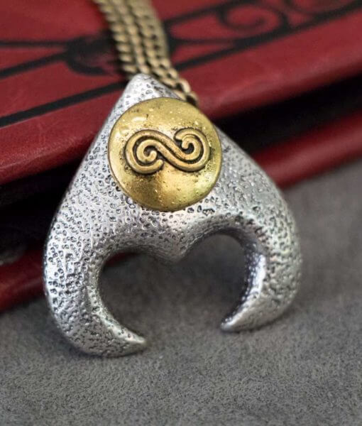 The Labyrinth Movie Pendant of Goblin King Jareth - Dave Bowie Jareth's Necklace Replica