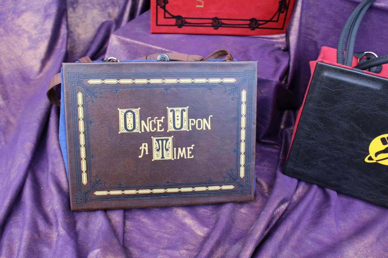 Once Upon A Time Story Book Hand Bag Custom Replica Clutch Purse Satchel Inspired By