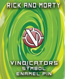 Vindicators Symbol Enamel Lapel Pin - Inspired by Rick and Morty