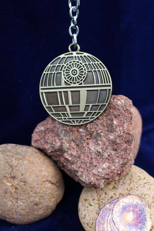 Star Wars Death Star (Deathstar) Antique Gold Keychain
