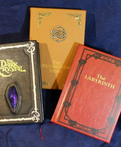 The Labyrinth Neverending Story The Dark Crystal Jim Henson Atreyu Falcor Leather Leatherbound Book Replica Collection 35-1280