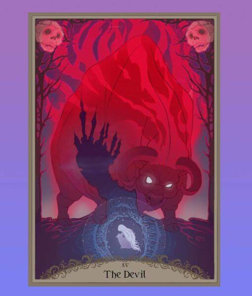 The Last Unicorn Official Licensed Illustrated Tarot Deck Peter S Beagle Schmendrick Molly Grue Red Bull 4