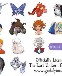 Last Unicorn Official Licensed Merchandise Enamel Pin Schmendrick Molly Red Bull King Haggard Prince Lir Peter S Beagle 1