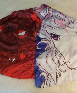 The Last Unicorn Licensed Merchandise Scarf Silk Red Bull Amalthea Schmendrick Peter S Beagle Polyester Apparel