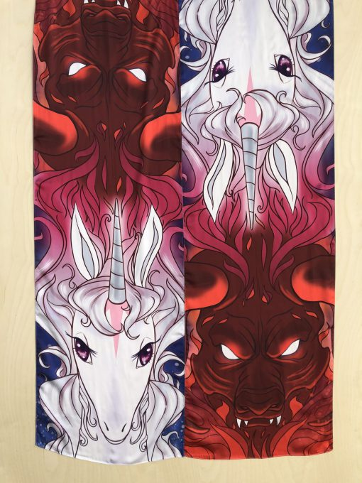 The Last Unicorn Silk Scarf Peter S Beagle Red Bull Scarves 22