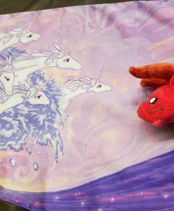 Last Unicorn Scarf Ocean Waves Sea Red Bull Plush