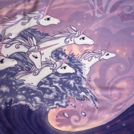 The Last Unicorn Silk Scarf Peter S Beagle Ocean Unicorns in the Sea Scarves 13