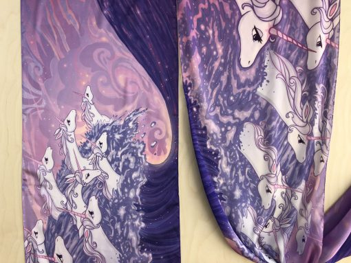 The Last Unicorn Silk Scarf Peter S Beagle Ocean Unicorns in the Sea Scarves 14