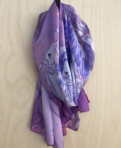 The Last Unicorn Silk Scarf Peter S Beagle Ocean Unicorns in the Sea Scarves 5
