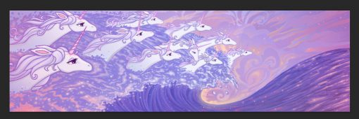 Last Unicorn Ocean Sea Waves Unicorns Silk Scarf