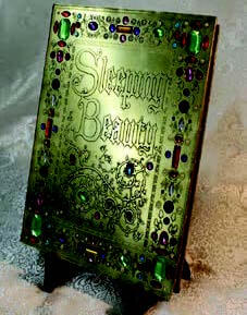 Sleeping Beauty Book Replica Brass Illustrated Pages Disney