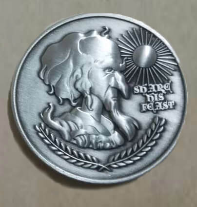 Last Unicorn King Haggard Peter S Beagle Coin 6